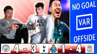 Manchester City vs Tottenham & Porto vs Liverpool Champions League Quarter Final Fan Reaction