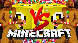Minecraft: CANDY LUCKY BLOCK CHALLENGE | Gingerbread Man Fight!