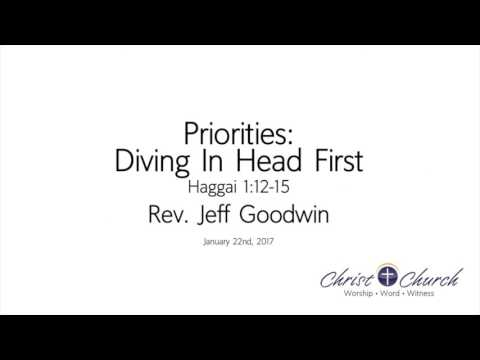 01.22.17 | Priorities: Diving In Head First