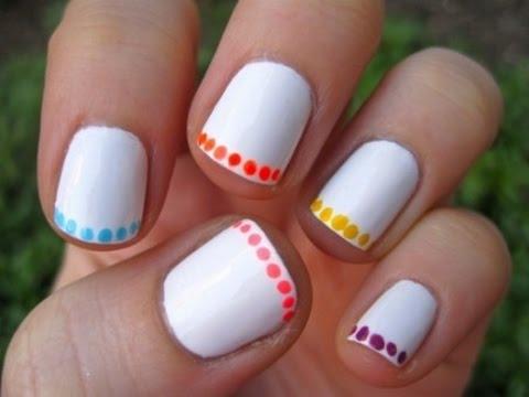 simple nail design short nails