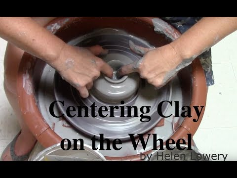 Centering Clay on the Wheel