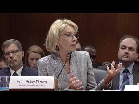 Senator Baldwin Questions Secretary Betsy DeVos about Trump-DeVos Education Budget