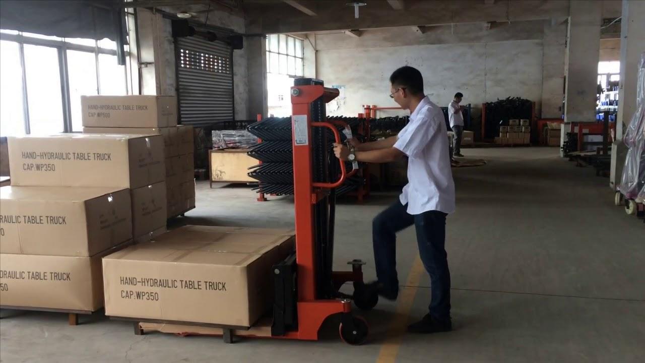 Hướng dẫn sử dụng xe nâng tay cao 1.tấn CTY-D đúng chuẩn
