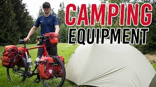 Darren's Bicycle Camping Equiṗment - Tent, Sleeping Bag & Sleeping Pad