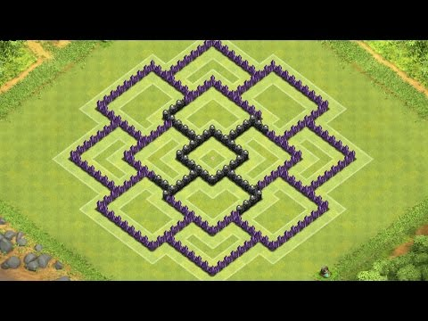 Clash of Clans Town Hall 8 Defense (CoC TH8) BEST Trophy Base Layout Defense Strategy