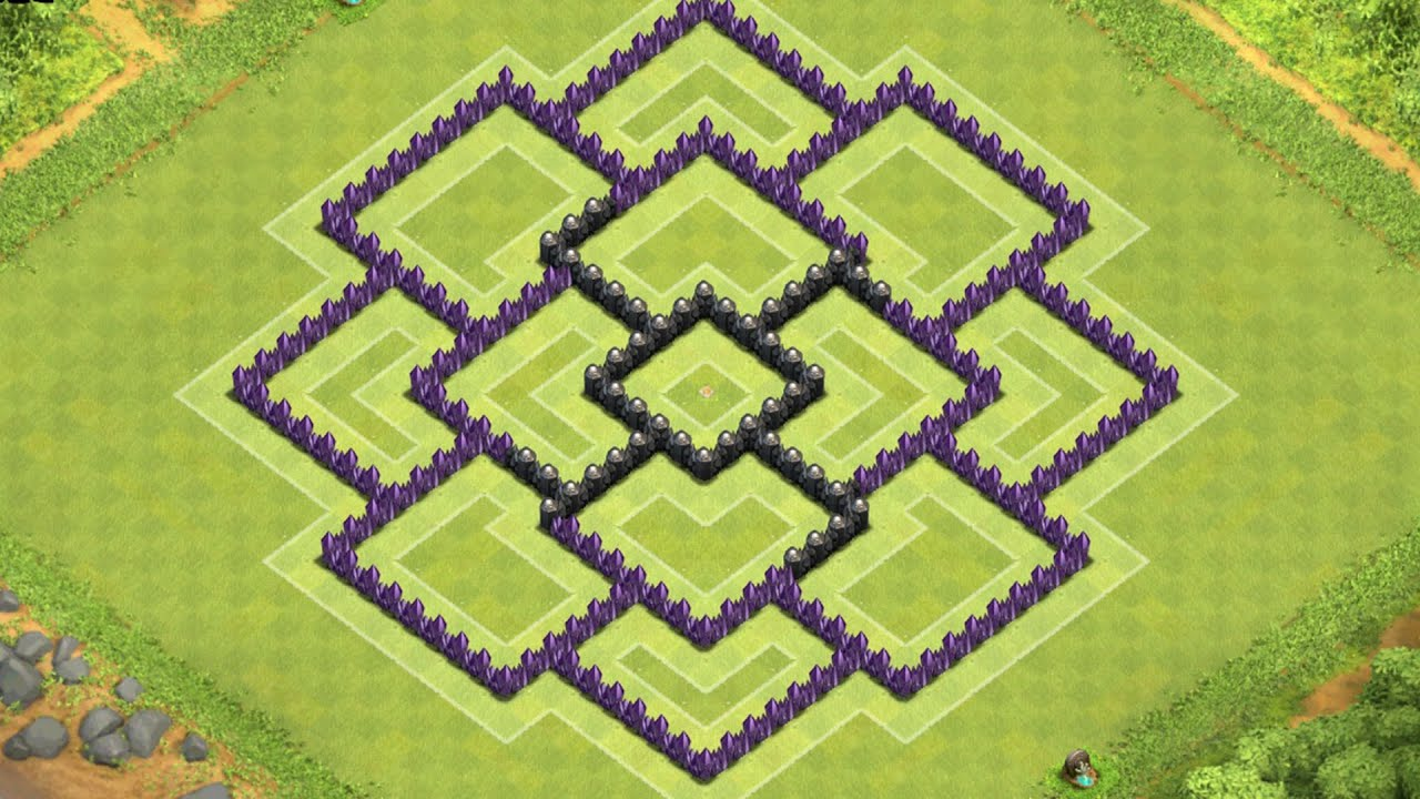 Clash of clans town hall 8 defense coc th8 best trophy base layout