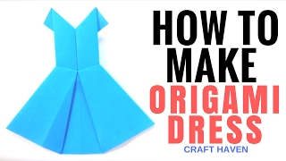 How to Make Origami Dress - Easy Tutorial for Beginners - Paper Dress