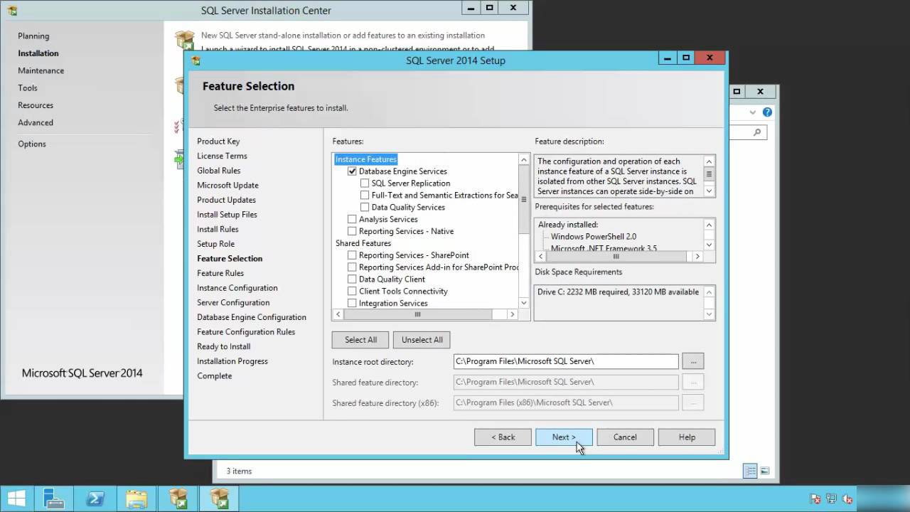 SharePoint 2016 Preview - Installing SQL Server 2014 - Single Server Farm  Deployment