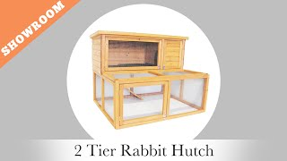Oypla Tv Presents The 2 Tier Rabbit Hutch