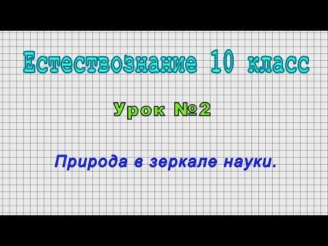 Естествознание 10 класс (Урок№2 - Природа в зеркале науки.)