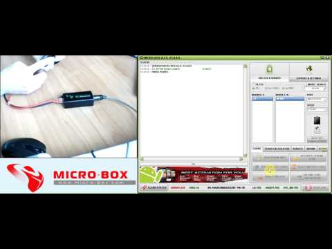 LG KP100 Read Codes with Micro-Box