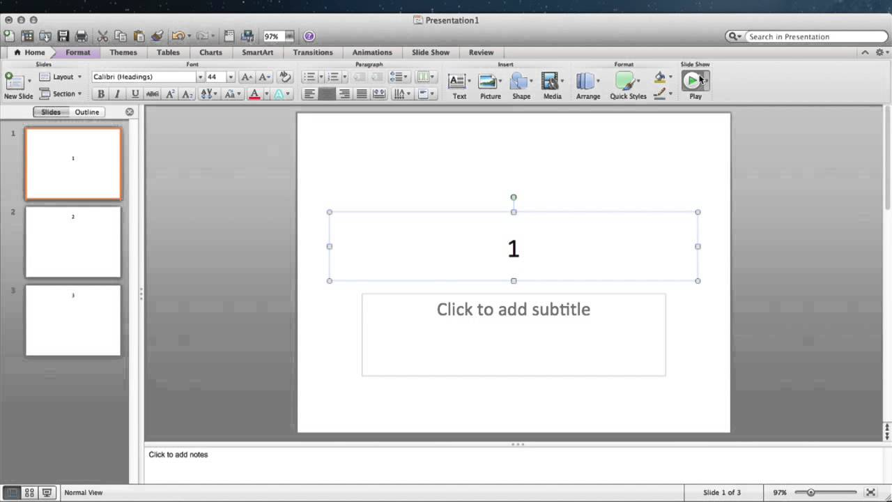 how to make powerpoint presentation on macbook