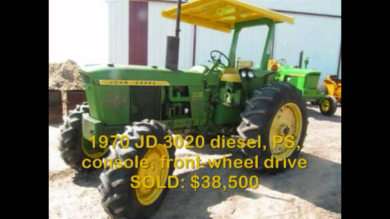 Jd 4020 Tractor Sold For 50 000 At Auction Youtube