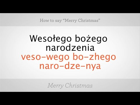 "How to Say ""Merry Christmas"" in Polish 