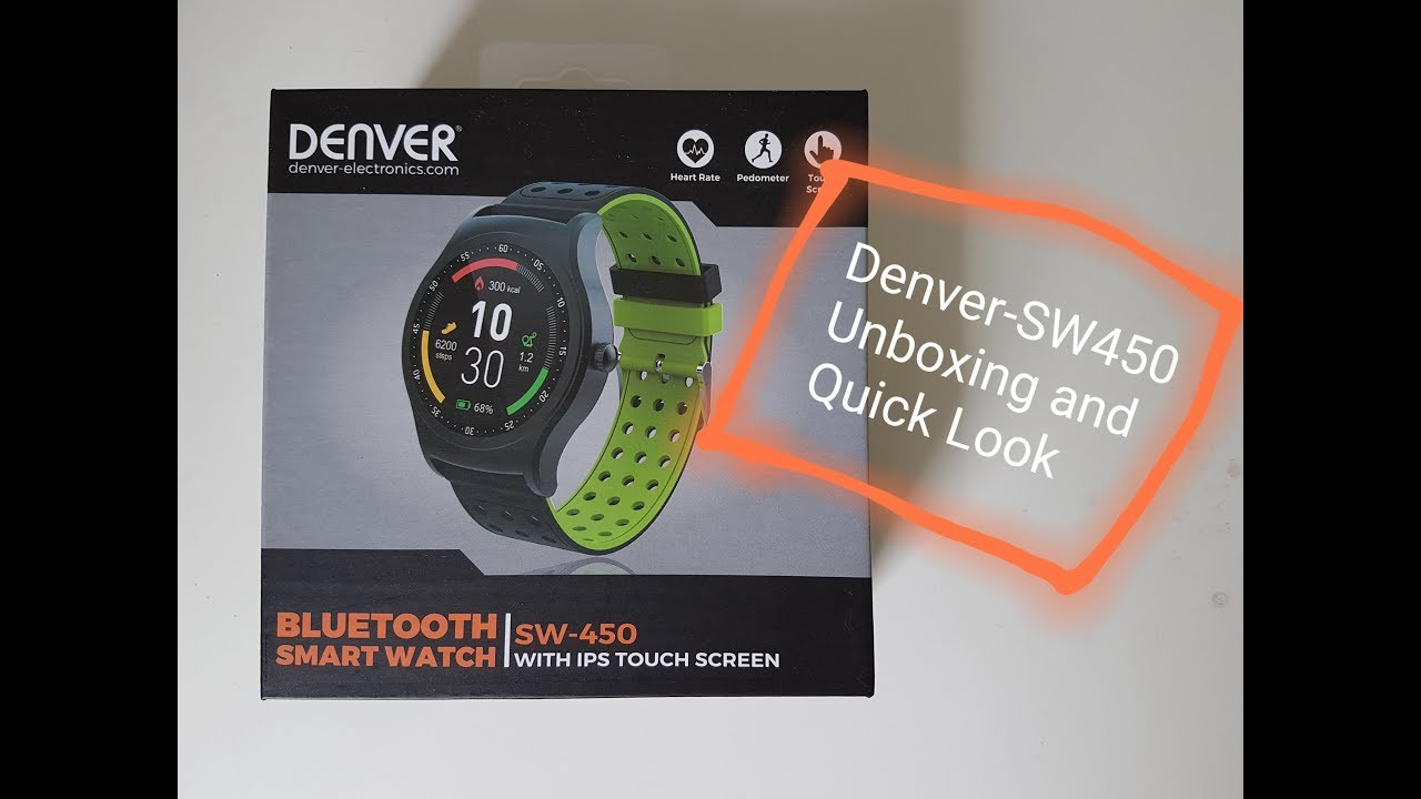 3514a207d Sport Smartwatch Denver SW-450 -Unboxing and Quick Look- - YouTube