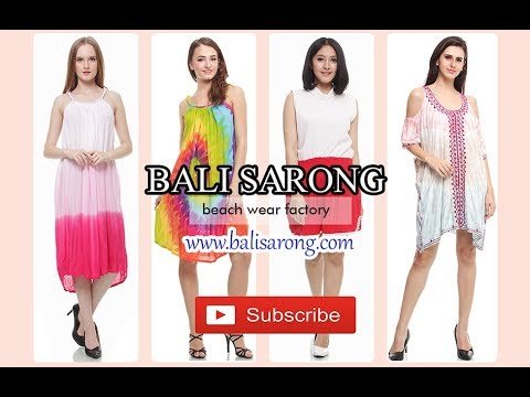 Customers orders clothing in Bali Sarong
