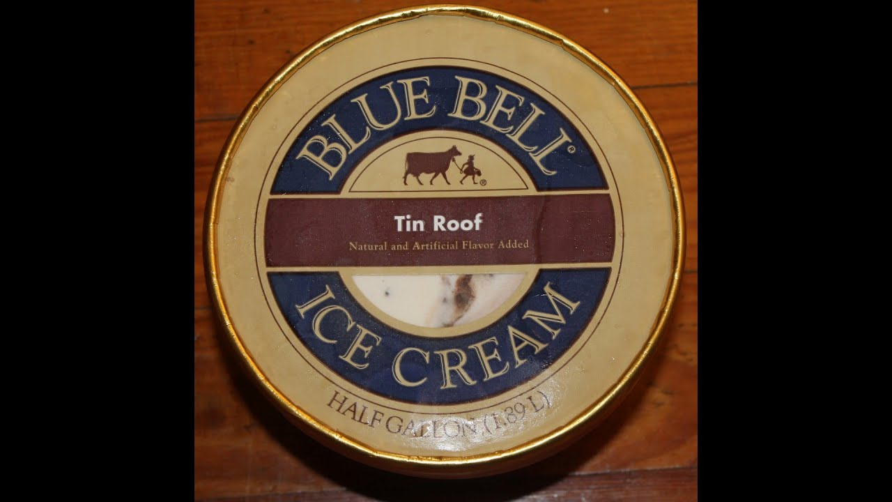 Blue Bell Tin Roof Ice Cream Review Youtube