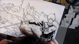 Drawing and inking Guren Ichinose [Speed Drawing] - Owari No Seraph