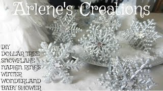 DIY Dollar Tree  WINTER WONDERLAND Napkin Rings