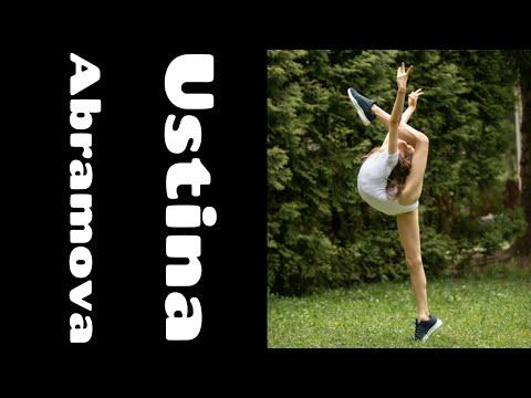 Ustina is an incredibly flexible gymnast😱😱😱