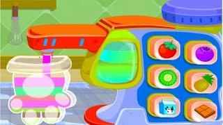 Baby Panda Ice Cream Shop | Making Fresh Fruit Ice | Healthy Summer Snack | Babybus Kids Games