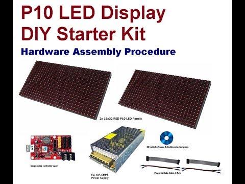 p10 led display diy starter kit hardware assembly procedure youtube. Black Bedroom Furniture Sets. Home Design Ideas