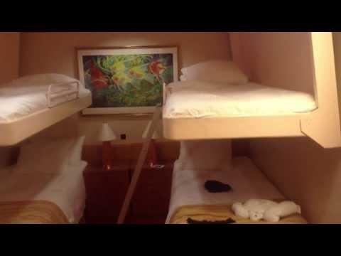 Carnival Spirit interior quad room 6121
