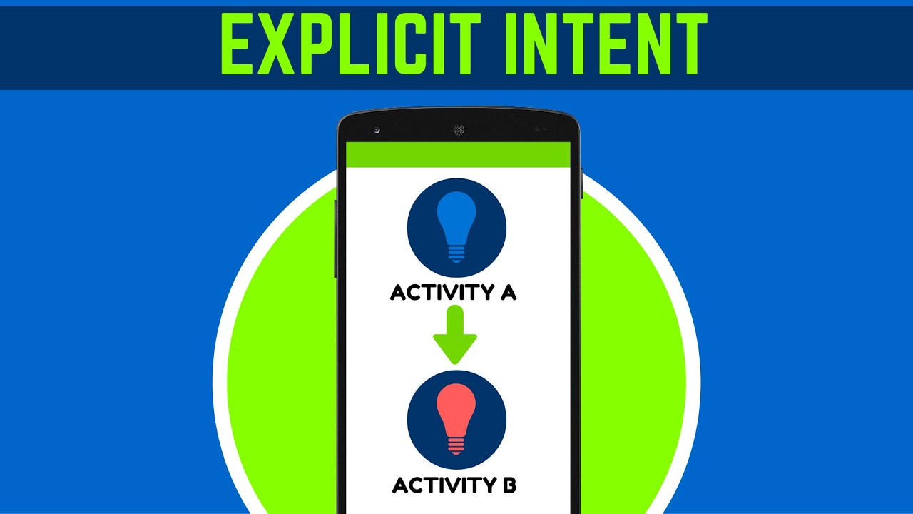 31 what is explicit intent in android android tutorial for beginners