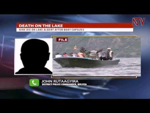 Nine die on lake Albert after boat capsizes