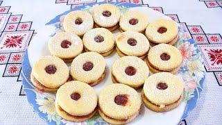 """Печенье с вареньем """"Колизбацьки"""" Простые рецепты печенья Печиво з варенням """"Кулізбацики"""" рецепт"""