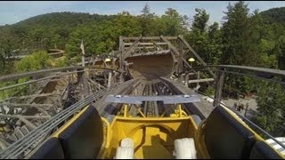 Knoebels Flying Turns Update Test Run Wooden Bobsled Roller Coaster Amusement Resort Gopro Video