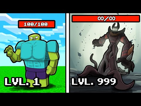 Level 1 to Level 999 MAX STRENGTH Boss! (Minecraft) |