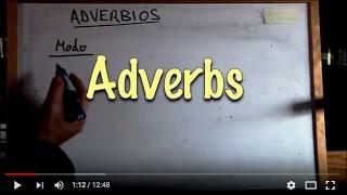 INGLÉS. 52- Adverbios. Inglés para hablantes de español. Tutorial