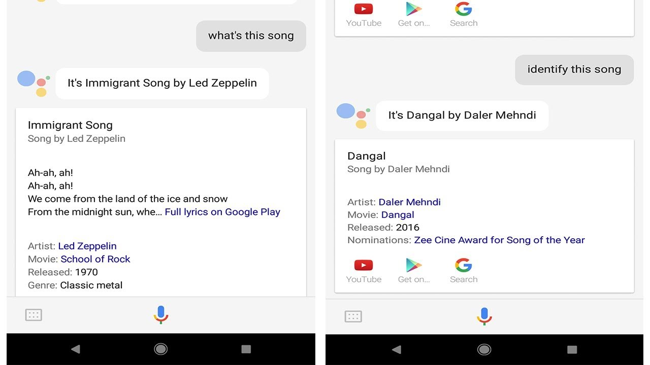 How To Identify Songs Music With Google Assistant Youtube