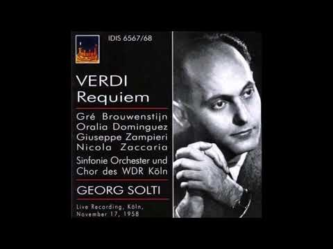 "Verdi ""Messa da Requiem"" Georg Solti Köln 1958"
