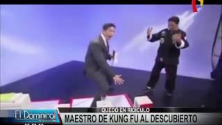 Falso maestro de Kung Fu quedó al descubierto en programa de televisión