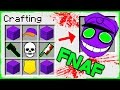 Minecraft FNAF - How to Summon PURPLE GUY in Crafting Table!