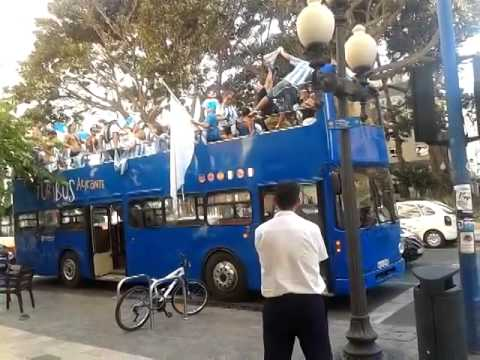 Argentina World Cup Madness in Tourist Bus in Spain