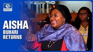 Jubilation Aisha Buhari Returns To Nigeria After UK Holiday