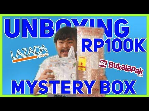 UNBOXING RP100K MYSTERY BOX: LAZADA VS BUKALAPAK