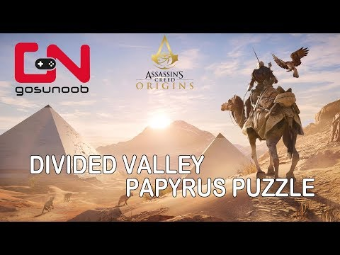 Assassin's Creed Origins: Divided Valley Papyrus Puzzle How to solve