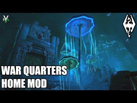 WAR QUARTERS: Unique Blackreach Home- Xbox Modded Skyrim Mod Showcase