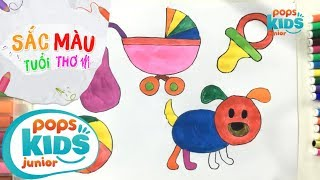 Sắc Màu Tuổi Thơ - Tập 44 - Bé Tập Vẽ Đồ Chơi | How To Draw For Kids Toddlers