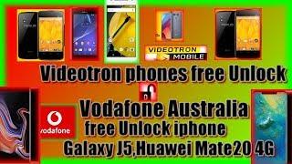 📱Free unlock🔓 Videotron phones canada,vodafone australia Free unlock📱