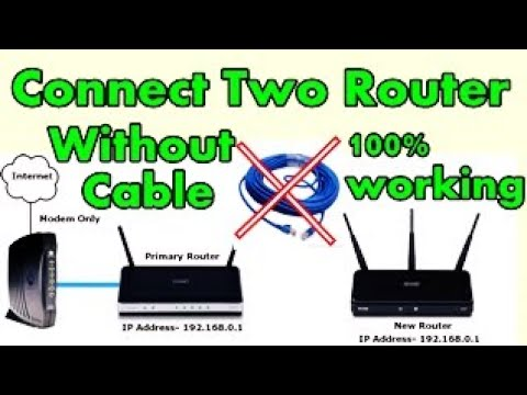 How To Connect Two Wifi Router Without Cable Tenda Router Wds Settings 100 Working Youtube