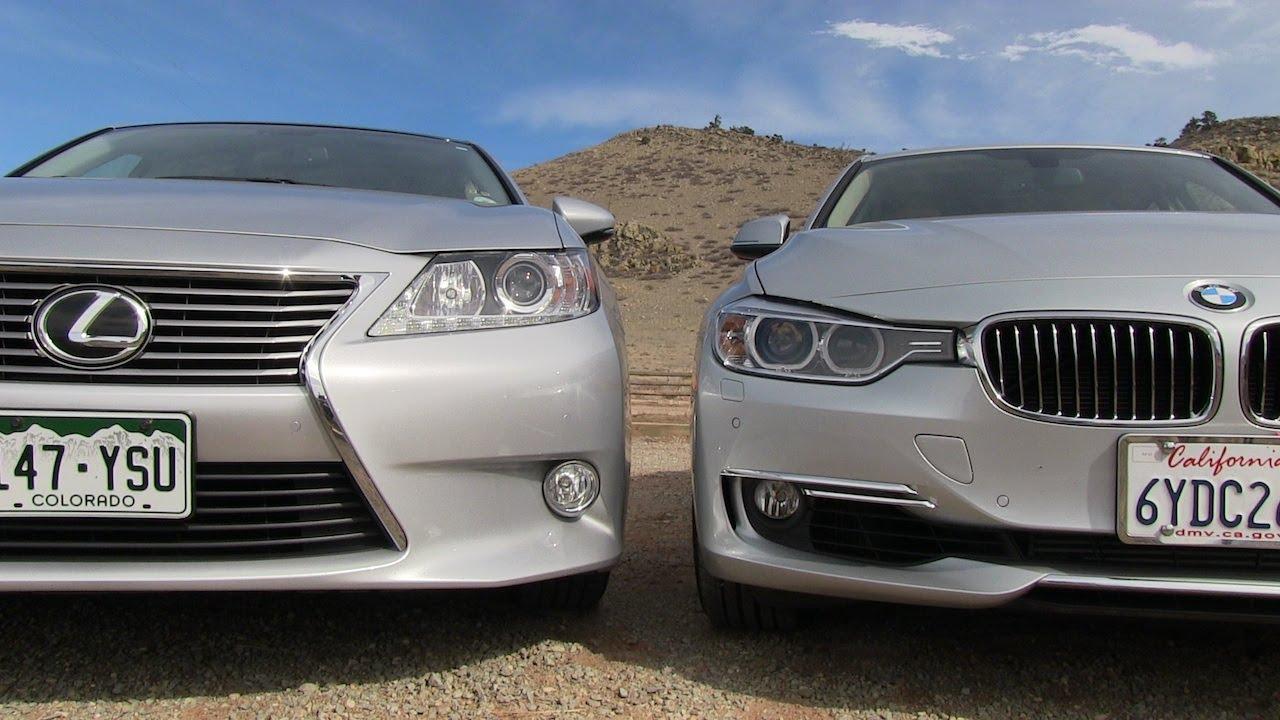 Lexus ES 350 vs BMW 335i 060 MPH Mashup Drive  Review  YouTube