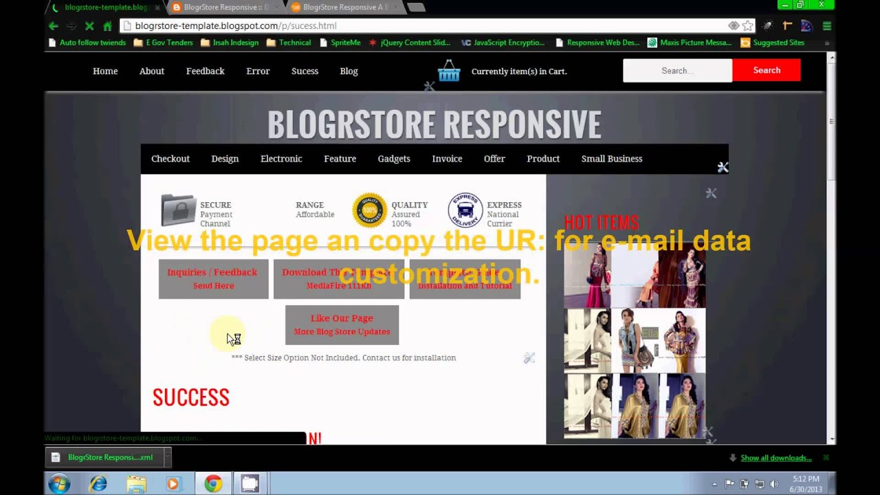 BlogrStore Responsive Install Blogger ShopStore Template YouTube - Responsive shopping cart template