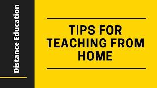 Online Teaching Tips for Teachers