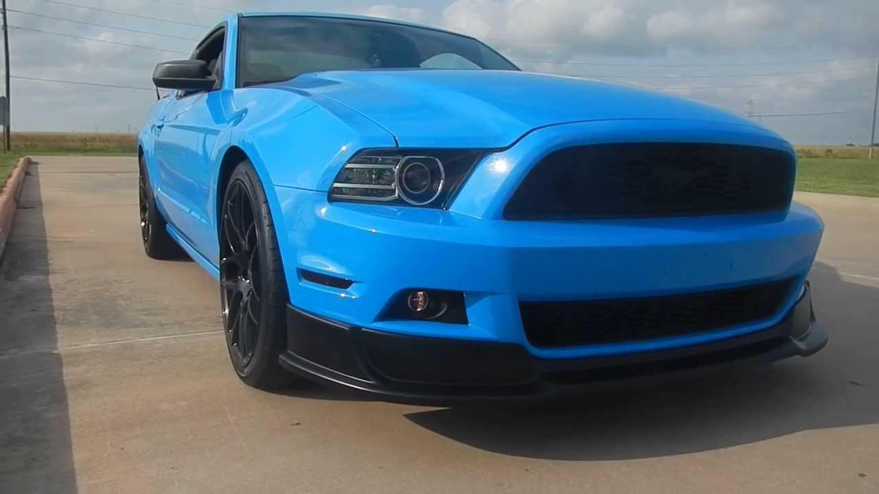 2013 Mustang Rtr Chin Spoiler Youtube