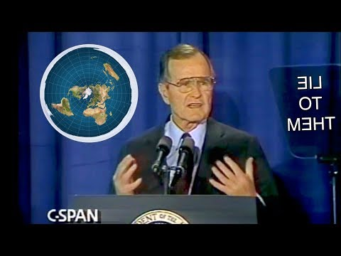 President George H.W. Bush mentions Flat Earth twice! (Rare Footage) thumbnail